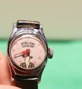 Vintage Hopalong Cassidy Timex Watch With Original Strap Not Running