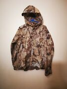 Grundens Gage Weather Watch Hooded Rain Jacket Fishing Camo Men's Small