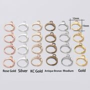 20pcs French Lever Earring Hooks Wire Settings Base Hoops For Diy Jewelry Making