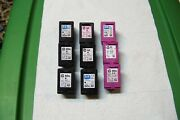 Hp 60 Ink Cartridges All Used And Empty Lot Of 9 Black And Color