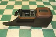 14-18 Gm Truck Black Leather Wood Center Console Armrest Lid Wireless Charger