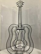 Large Metal Wire Form Guitar-music Decoration-iron Guitar With Stand–86 Slots