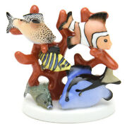 Herend Fish Figurines In The Coral Reef Handmade Hand-drawn Made Of