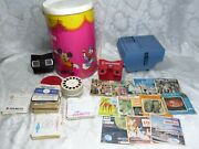 Vintage 1950's-1960's View-master 3 Viewers And 130 Reels