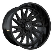 Tis 547b 24x12 6x139.7 Et-44 Gloss Black W/milled And Painted Lip Logo Qty Of 4