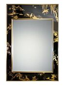 Beautiful Vintage Signed 1981 La Barge Reverse Hand Painted Chinoiserie Mirror
