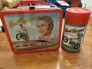 Vintage Evel Knievel Lunchbox And Thermos 1974 Alladin Motorcycle