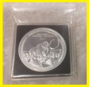 Wooly Mammoth Prehistoric Life – 2021 1 Oz Bu Silver Coin In Square - Congo Drc