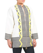 Nwt Versace Authentic White Striped Zip Jacket Size 40 / Us 4 1149 Sold Out