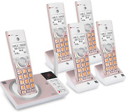 Atandt Cl82557 Dect 6.0 5-handset Cordless Phone For Home With Answering Machine,
