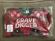 New Grave Digger Monster Jam Truck Ugly Christmas Sweater Holiday Mens Xl