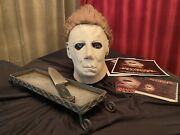 """Screen Used Myers Mask Halloweenrevisited """"fan Film"""" 2006 W/ Props, Poster,dvd"""