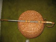 Vintage Usn Navy Officers Dress/ceremonial Sword With Scabbard