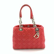Christian Dior Canage Handbag Red Silver Fittings