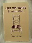 Chair Seat Weaving For Antique Chairs By Marion Burr Sober