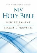 Niv, Holy Bible New Testament With Psalms And Proverbs, By Zondervan Brand New