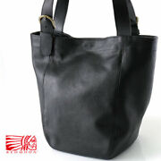 Redmoon Red Moon Shrink Leather Tote Bag Benkei Mens Man's Thing Genuine Made In
