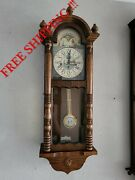 German Fhs Hermle Westminster Chime Wall Clock 0409