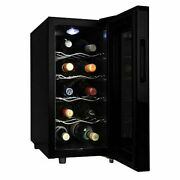 Koolatron 10-bottle Wine Cellar Touch Control In Black Dual Thermoelectric Unit