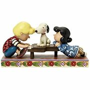 Jim Shore Peanuts Schroeder And Piano With Lucy And Snoopy Figurine, 4 4042385