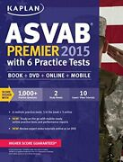 Kaplan Asvab Premier 2015 With 6 Practice Tests Book + Mint Condition