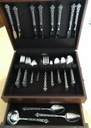 Old Baroque Stainless Oneida Northland Japan 62 Piece Set, Discontinued