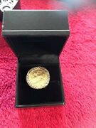 Stunning Solid Gold Chunky Ornate 1900 1/2 Sovereign Ring Hm London 1976 Sz P.5