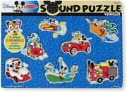 Melissa And Doug Disney Mickey Mouse And Friends Vehicles Sound Puzzle 8 Pieces