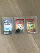 3x New Pokemon Ex Dragon Booster Pack Sealed Unweighed Rare Vintage