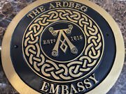Ardbeg Scotch Whisky Ardbeb Embassy Wall Plaque Rare Impossible To Find Awesome