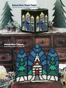 Stained Glass Triptych And Tissue Box Cover Plastic Canvas Pattern Instructions