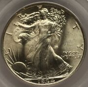 1934 Walking Liberty Half Pcgs Ms 66 Cac Approved White