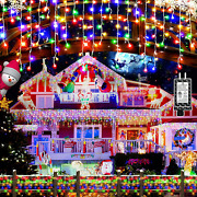 Christmas Decorations Lights Outdoor 400 Led 32.8 Ft 8 Modes 75 Drops Fairy Str