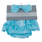 Dandelion Seeds Ruffle Bamboo Bloomer Headband Set - Gifts By Starr For Occasion