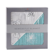 Corgi And Dandelion Seeds Bamboo Muslin Newcastle Blanket - Gifts By Starr For O