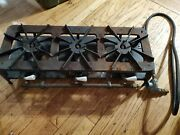 Vintage Kenmore Gas Hot Plate Camp Stove Cast Iron 3 Burners Rare. Used.