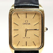 Omega Watches 625 De Ville Vintage Hand Winding Stainless Steel/leather Gold