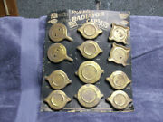 Berkson Antique Car Solid Brass Radiator Cap Display And Caps Gas Station 1940and039s