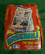 1985 Topps Chewing Gum Baseball Card 36ct New In Open Box