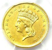 1856 Indian Gold Dollar G1 - Certified Pcgs Xf Details - Rare Early Coin