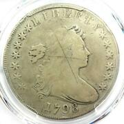 1798 Draped Bust Silver Dollar 1 Coin - Certified Pcgs Fine Detail - Rare Coin