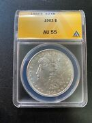 1903 P Morgan Dollar Anacs Au-55 - About Uncirculated - Certified Slab - 1