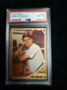 1962 Topps 411 Danny O'connell Psa 8 Nm-mt