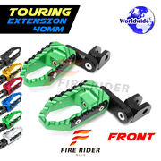 40mm Extended Wide Front Footpegs For Yamaha Tzr 250 1987-90 87 88 89 90