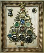 Christmas Tree Watch Collection Framed Jewelry One Of A Kind Art Unique Gift