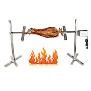 30kg Rotisserie Spit Grill Bbq Barbecue Operated Roaster Pig Meat With Motor Us