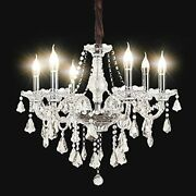 Modern K9 Christmas Tree Crystal Candle Chandeliers Lighting 6 Lights Clear P...