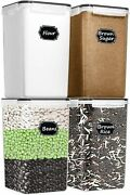 Extra Large Wide And Deep Food Storage Airtight Containers [set Of 4] 6.5l New