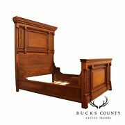 Antique Victorian Walnut Aesthetic Carved High Back Full Bed