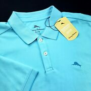 Tommy Bahama Moisture Wicking Cotton Polyester Blend Easy Care Polo Shirt Xl